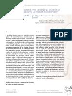 Investigación Documental Sobre Calidad de La Educación