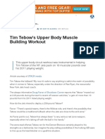 Tim Tebow's Upper Body Muscle Building Workout _ Muscle & Strength