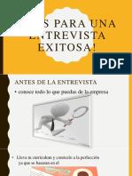 Tips Para Una Entrevista Exitosa!