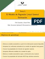 Modelo regresión general