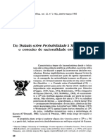 Do tratado sobre probabilidade a Teoria Geral