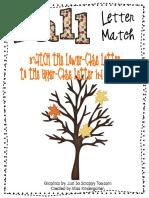 Fall Leaves Letter Match File Folder