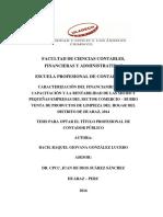 Financiamiento Capacitacion Gonzalez Lucero Raquel Giovana