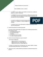 Preguntas de Derecho Civil y Procesal Civil