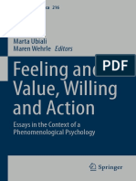 Feeling and value, willing and action< Wehrle M. ed