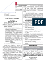 Ley Del Deportista de Alto Nivel - Ley 30994 (Peruweek.pe)
