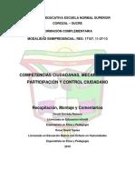 MÓDULO COMPETENCIAS Y PARTICIPACIÓN CIUDADANA