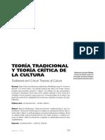 Teoría tradicional y Teoría crítica de la cultura