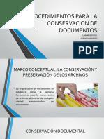 Procedimientos Para La Conservacion de Documentos