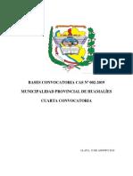Convocatoria Cas - II 2019