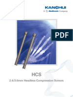 2.4&3.0 HCS Headless Screw - Brochure - 2014