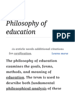 Philosophy of Education - Wikipedia