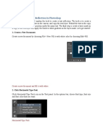 Photoshop Text Reflection Effect