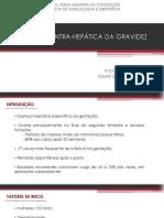 Colestase Gestacional - Análise artigos