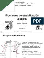 Estabilización de elementos estáticos