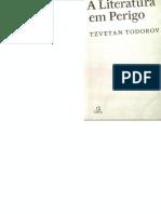 Livro - A Literatura Em Perigo - Todorov