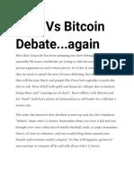 Gold vs Bitcoin Debate