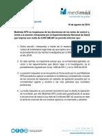 Medimás EPS asegura que sanción interpuesta por la SuperSalud no tiene sustento legal