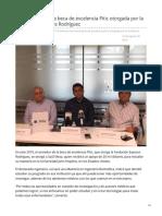 Obtiene Saúl Meza beca de excelencia Pitic otorgada por la Fundación Esposos Rodríguez