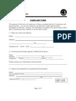 Title VI Complaint Form