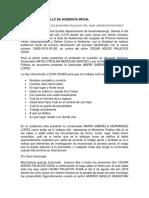 EJEMPLO DE DESARROLLO DE AUDIENCIA INICIAL