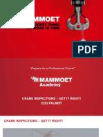 Mammoet Crane inspection