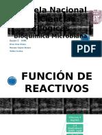 Función de Reactivos