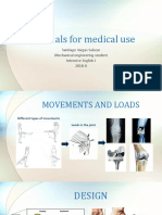 Materials for medical use