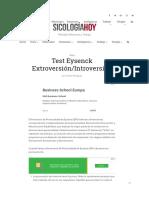 Test eyseck extroversion introversion