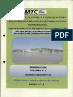 224 Estudio Definitivo Para La Const Del Pte Sta Maria de Nieva y Accesos Inf Final Vol 1 Memoria