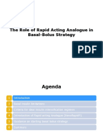 The Role of Rapid Acting Analogue in Basal-Bolus Strategy