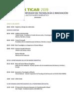 X TICAR 2019 - Programa Final
