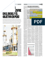La Tendencia Mundial de Azufre en El Diesel y El Objetivo en El Perú SEMANA10Set2017