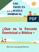 Cuan Importante Es La Escuela Dominical