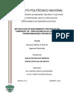 Metodologia de Mantenimiento Preventivo Del Cambiador de Derivaciones Bajo Carga de Transformadores Trifasicos