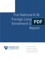 National Foreign Language Enrollment Report
