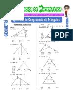 Ejercicios de Congruencia de Triángulos Para Primero de Secundaria