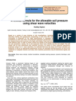 A Refined Formula for the Allowable Soil Pressure Using Shear Wave Velocities