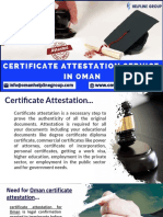 Looking for Reliable Certificate Attestation Services in Oman?