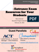 College Entrance Exam Resources