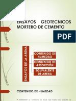 Ensayos Geotecnicos Mortero de Cemento