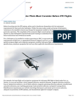 Factors That Helicopter Pilots Must Consider Before IFR Flights