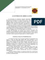 A los pueblos de America Latina JCR