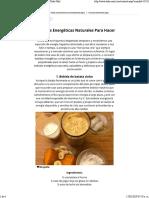 6 Bebidas Energéticas Caseras _ Recetas y Bebidas - Todo-Mail