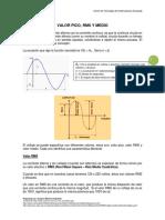 Documento Guía 1 Valores Pico, RMS y Promedio