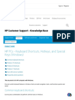 HP PCs - Keyboard Shortcuts, Hotkeys, and Special Keys (Windows) _ HP® Customer Support