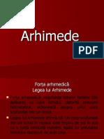 Arhimede şi aplicatii