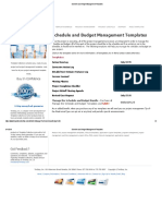 4.0 Schedule and Budget Management Templates