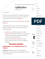 Basics of Simplification