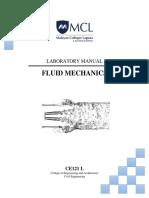 Ce121l Fluid Mechanics Laboratory Manual